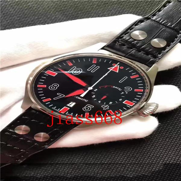하이 엔드 럭셔리 남성 기계식 손목 시계 온라인 시계. 파일럿 시리즈. 자동 시계. 폴딩 clasp.316 스테인레스 스틸 슈퍼 큰 다이얼 46 mm
