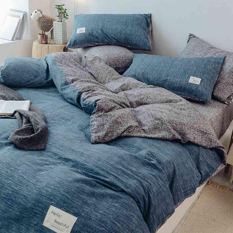 Four Air Bed Sheet Thickened Matte Quilt Cover Three Piece Student Dormitory Single