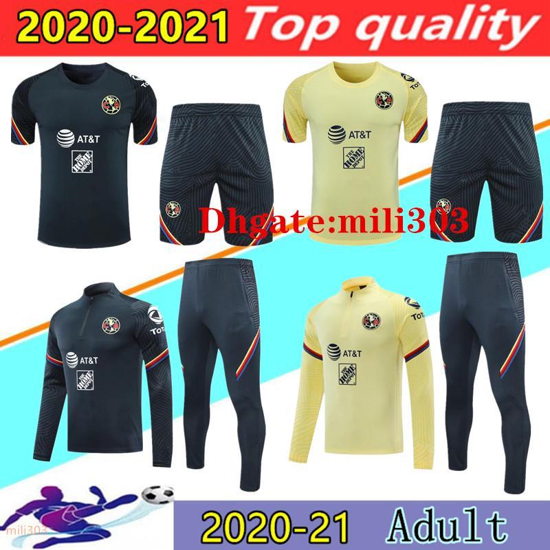 2021 Mexico Club America 3/4 Tracksuit Football Former 20 21 Ciovanny G. Dos Santos R.Sambueza P.Aguilar Football Sportswear Sourdance