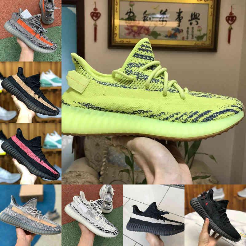 Satış 2021 Yeni Kanyes Wests V2 Yansıtıcı Fade Karbon Doğal Israfil Kilitli Dünya Zyon Oreo Çöl Sage Marsh Erkek Koşu Ayakkabıları Kadın Eğitmenler Sneakers X9
