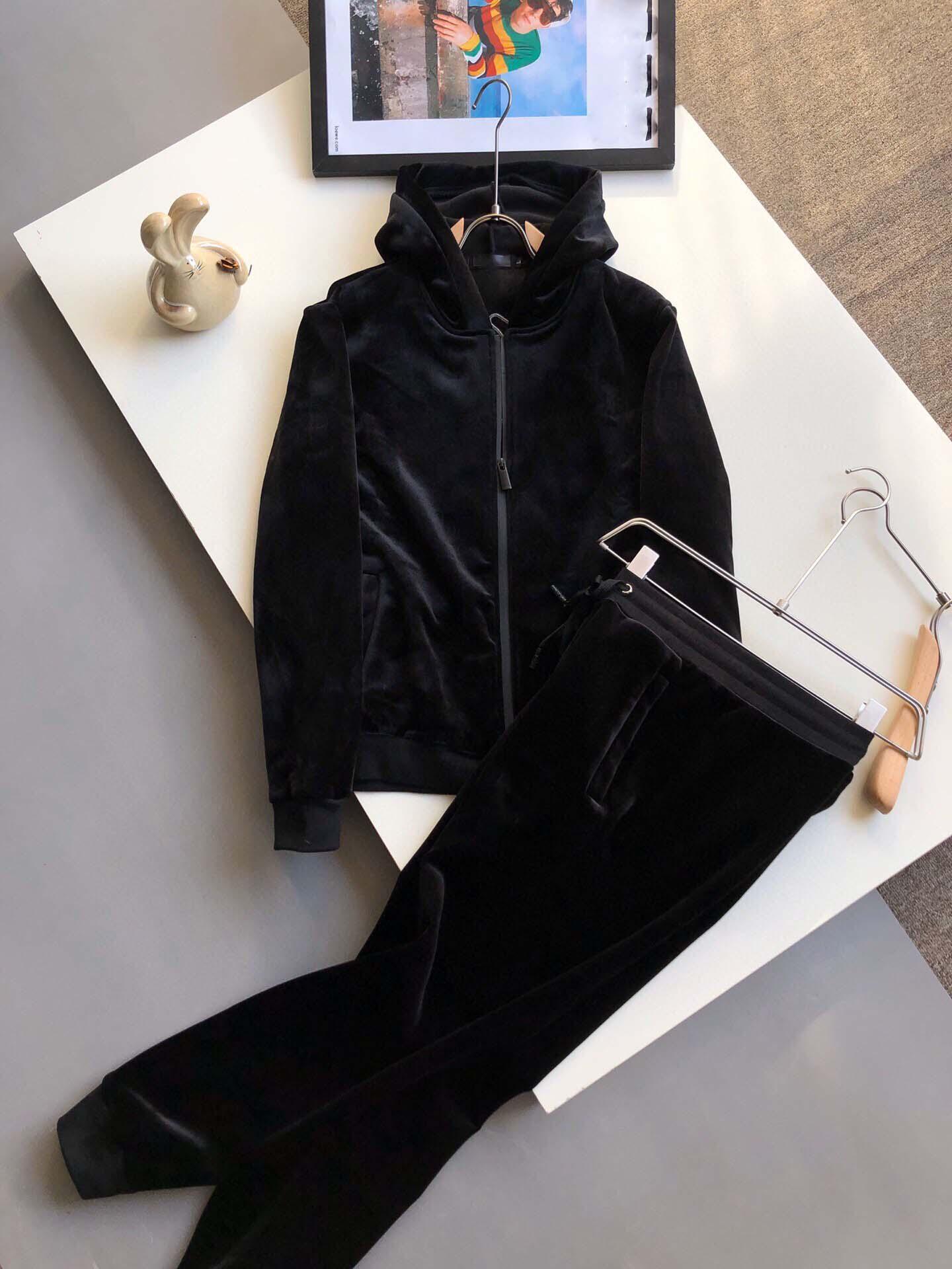 2020 Neue Marke Designer Buchstabedrucken Herren-Pull-Pull anzug Sportkleidung Anzug Herren-Jacke-Jacke Beiläufiges Sweatshirt mit Kapuze Läu