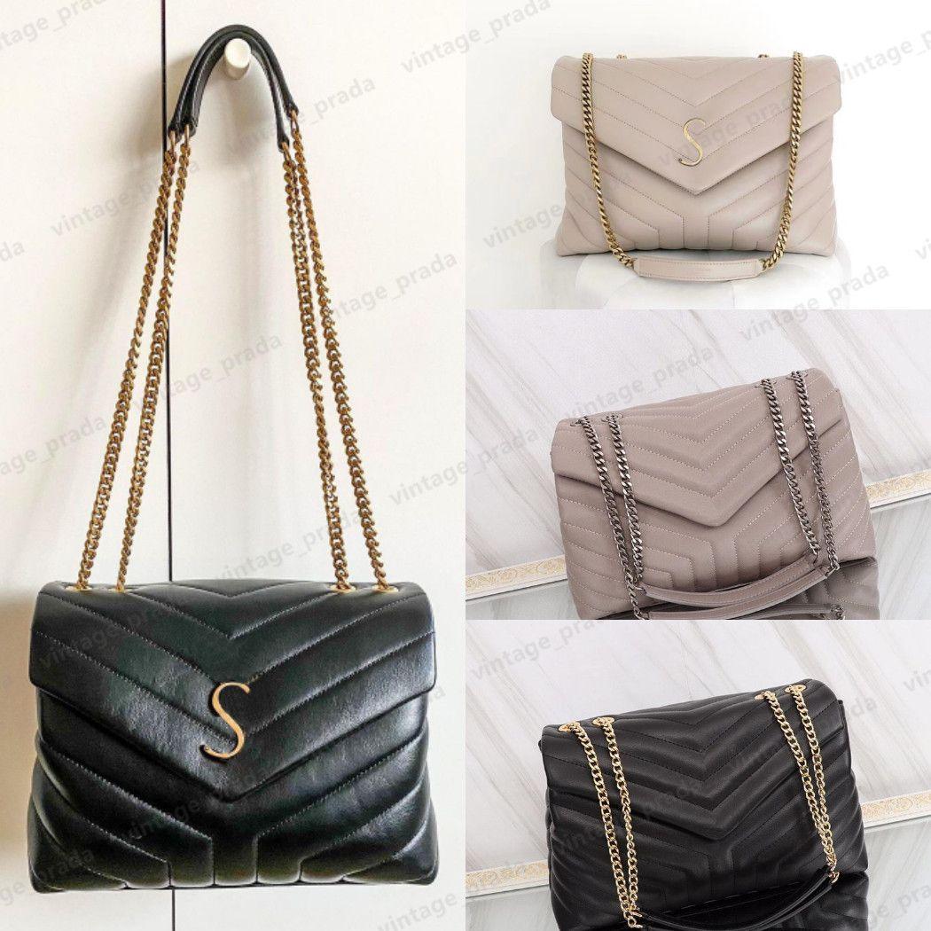 Top Quality Real Leather Pelle Donne Cleo Loulou Spazzolato Tote Borse Handbag Nylon Designer di Prestigio Uomo Borsa a tracolla Hobo Portafoglio Crossbody Bags Borse da donna Borse Borse