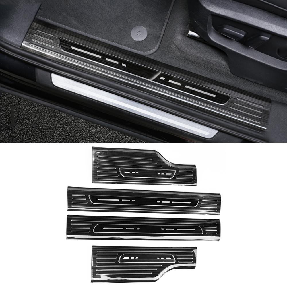 Pour Audi Q7 4M 2016-2019 Accessoires de voiture en acier inoxydable Seuil Seuil Seuil SCuff Plaque Guard Accueil Pédale Cadre Cadre Cover Sticker