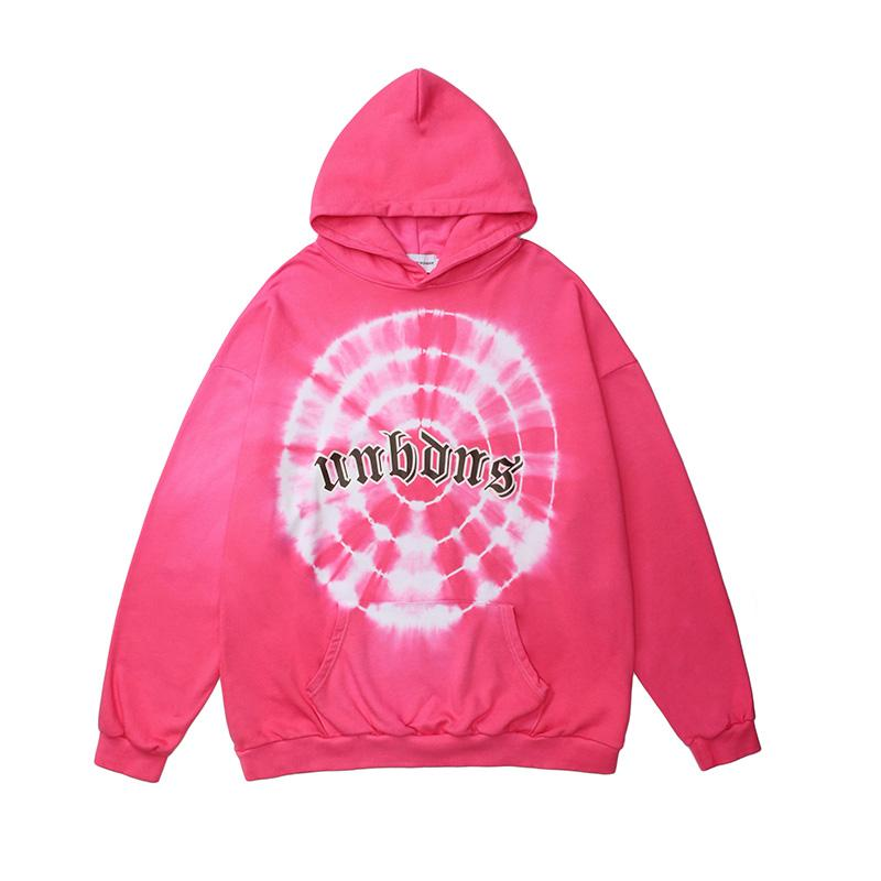 Hip Hop Tie Dye Autumn Oversize Hoodies for Men and Women Hooded Streetwear Loose Sweatshirt