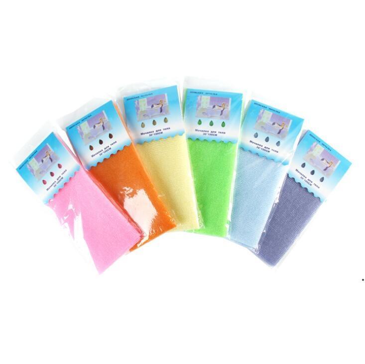 30 * 100 cm Badetuch Salux Tuch Japanische Peeling Schönheit Haut Wash Tuch Körperwäsche Handtuch Tuch Back Breaking badezimmer Zubehör DHF6521