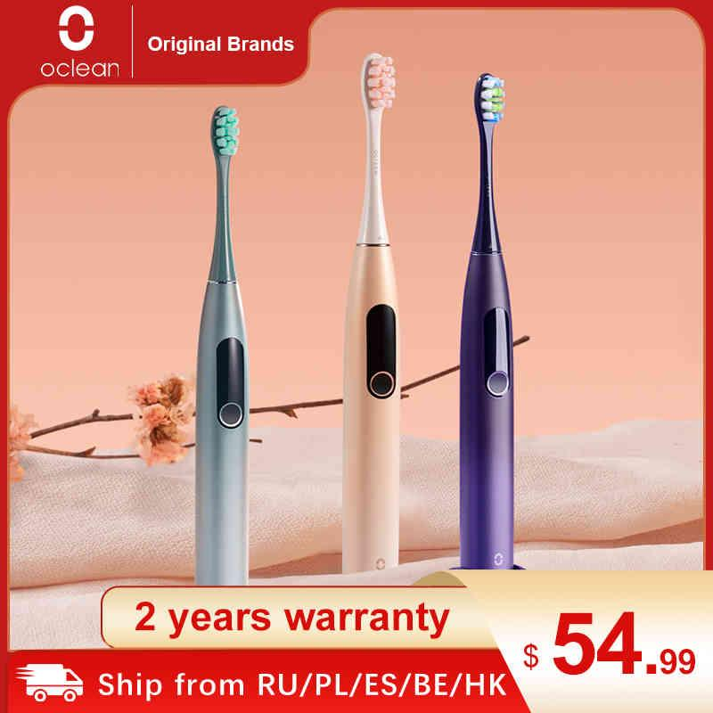 OCLEAN X برو سونيك فرشاة الأسنان الكهربائية الكبار للماء بالموجات فوق الصوتية التلقائي فرشاة الأسنان شحن سريع مع شاشة تعمل باللمس Q0508