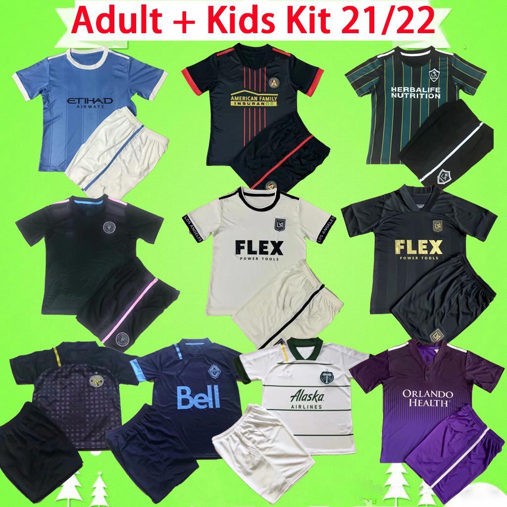 Yetişkin + Çocuk Kiti 2021 2022 MLS INTER MIAMI futbol forması Los Angeles FC Galaxy LA 21 22 Vancouver Atlanta United Columbus futbol forması erkek Portland Timbers new York