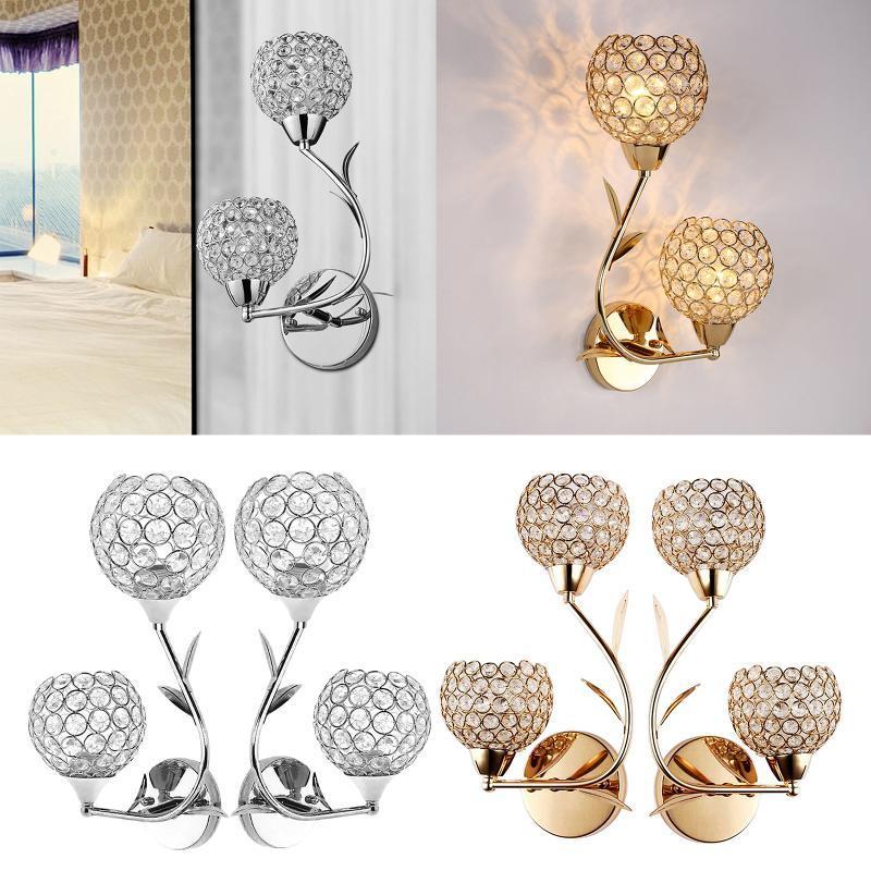 현대 장식 크리스탈 벽 조명 침대 옆 램프 sconce DIY 홈 장식 E26 / E27 소켓 전구 포함되지 않음