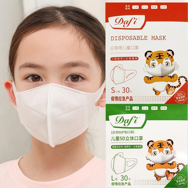 Masken Kinder, Babys, 3D-weißer Babyschützer des schmelzenden Tuchs, schmelzbraunen Tuchschutz