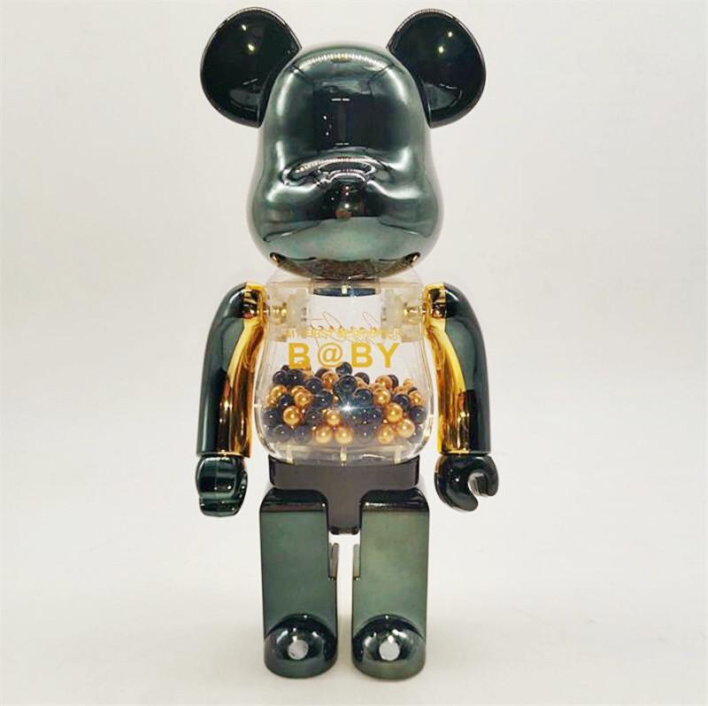 Yeni 400% 28 cm Bearbrick Elektrolizle Şeffaf Moda Ayı Chiaki Rakamlar Oyuncak Koleksiyonerler Için @ Rbrick Sanat Çalışma Modeli Dekorasyon Oyuncaklar