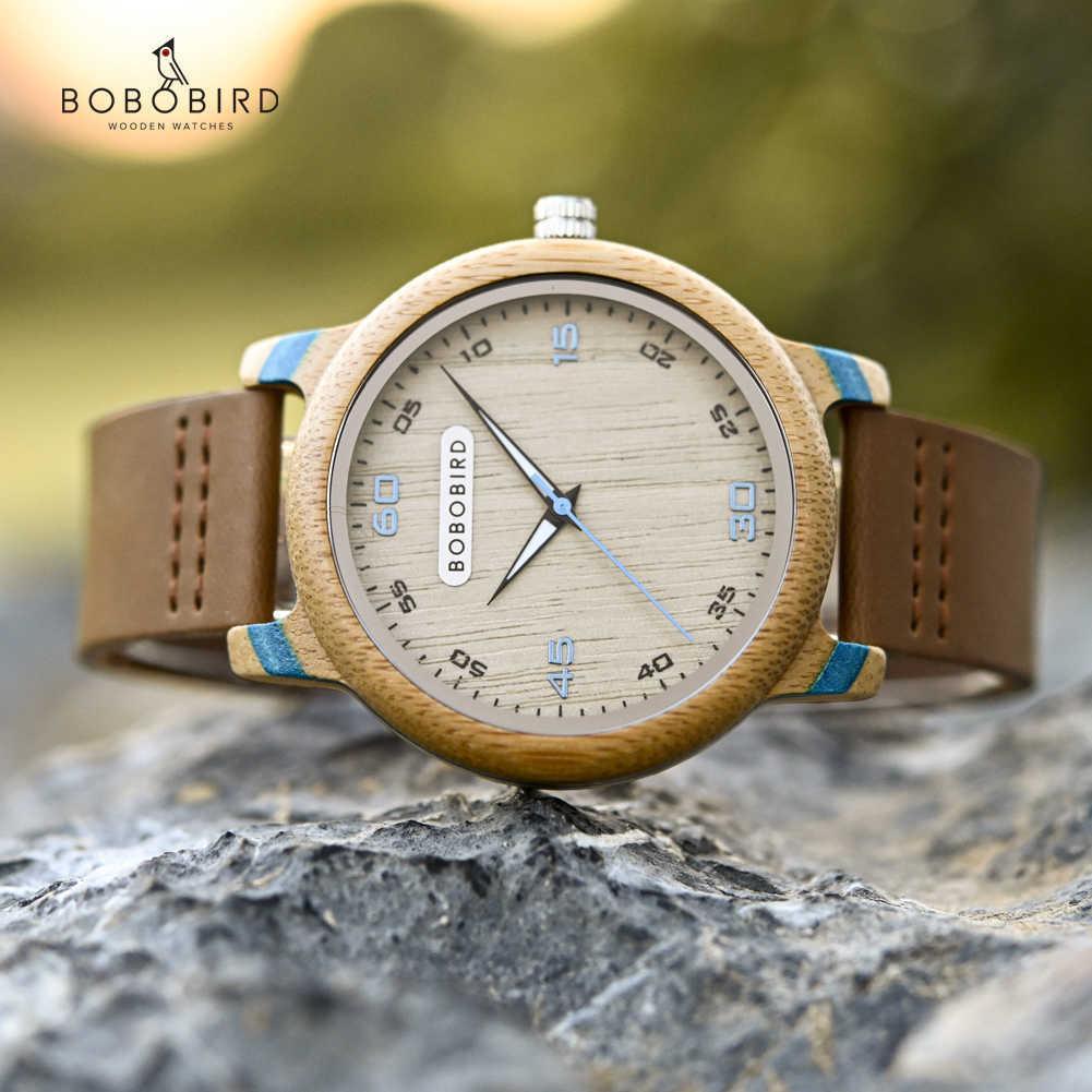 Bobo Bird Bambusholz Uhren Männer Top Luxus Persönlichkeit Armbanduhr Für ihn Valentinstag Geschenke Uhr Einfache Drop Ome 210603