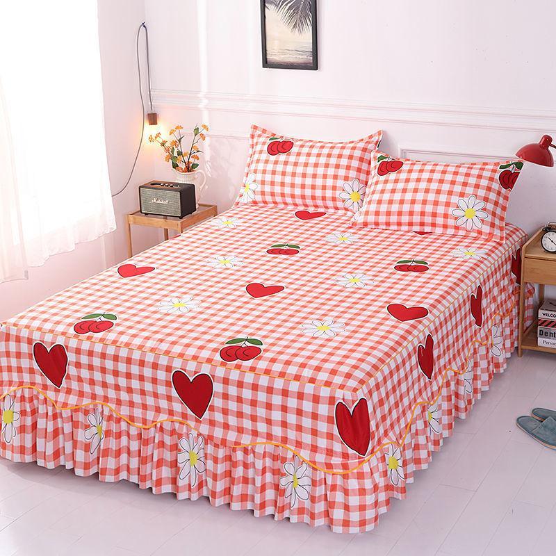 Jupe de lit ébouchée couverte couverture couverture couverture de tôle Chambre à coucher Chambre à coucher Accueil Jupe textile Jupe textile Full Queen King Lit Spread F0392 210420