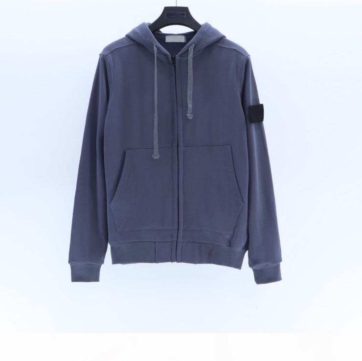 Fashion-Mens Pullover con cerniera con cappuccio Felpe con cappuccio in Italia Style Autunno e Inverno 7Color