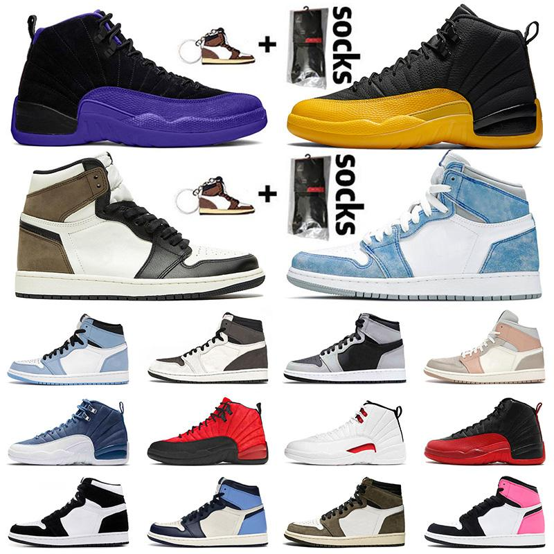 Nike Air Jordan Retro 12 12s Jumpman Stock x Мужские баскетбольные кроссовки Hot Punch Университетская золотая игра Royal International Flight OVO Белые кроссовки