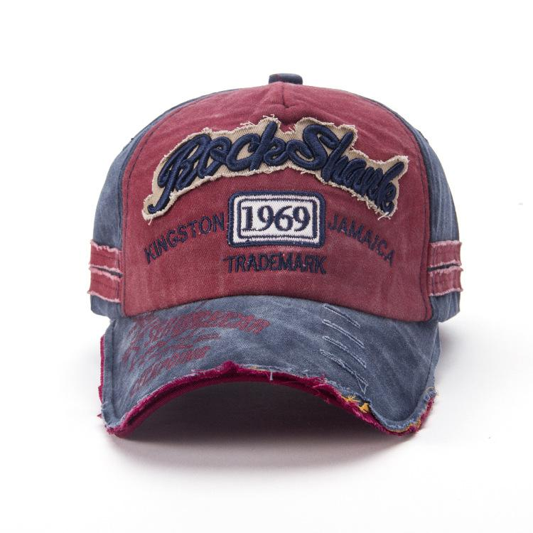 Ricamo cappelli vintage berretto da baseball 1969 lettera hip hop coppia cappello all'aperto moda traspirante casual cappelli a sfera parasole