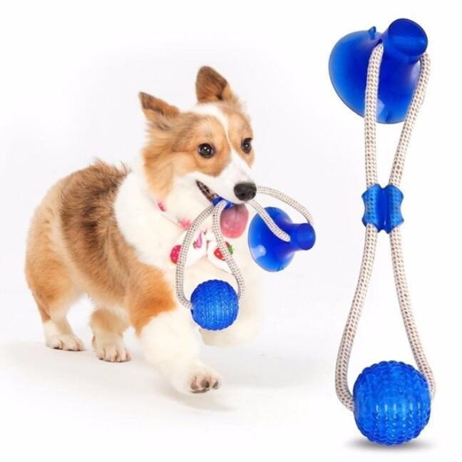 Cães de estimação cães molar mordida brinquedo multifuncional cão morder brinquedos borracha mastigar esfera limpar dentes cofragem segura elasticidade macia