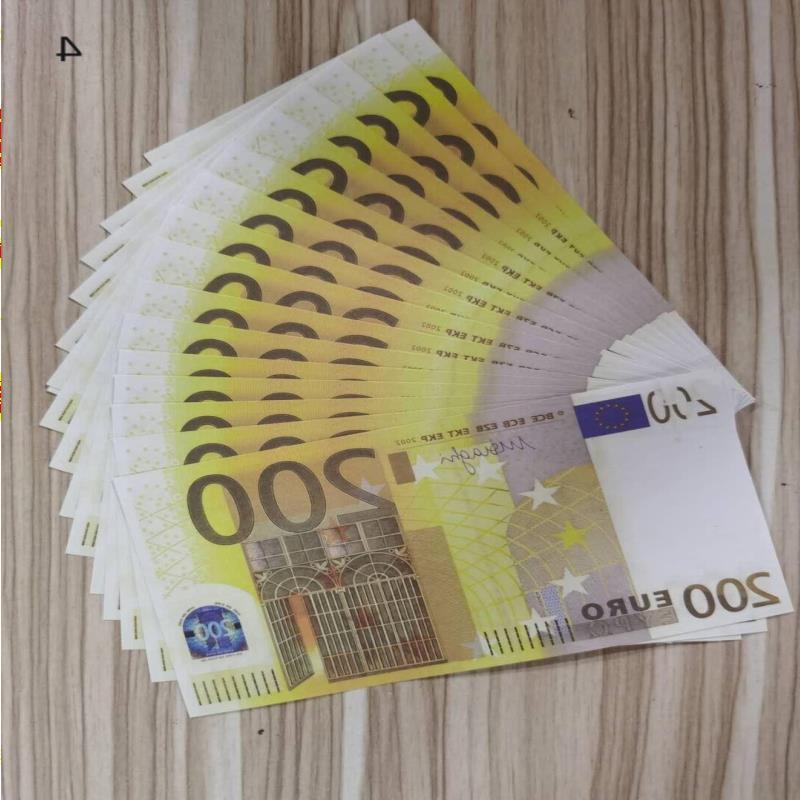 Note 200Euros Realistic Most Copy Money Nightclub Paper Play 18 For Movie Business Fake Collection Bank Prop Geonp