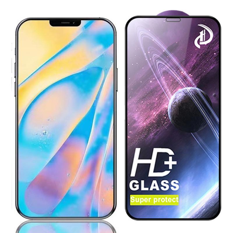 HD強化ガラススーパープロテクトスクリーンプロテクターフィルムガード爆発湾曲カバーカバーシールドiPhone 13 Pro最大12ミニ11 XS XR x 8 7 6 6 S SE