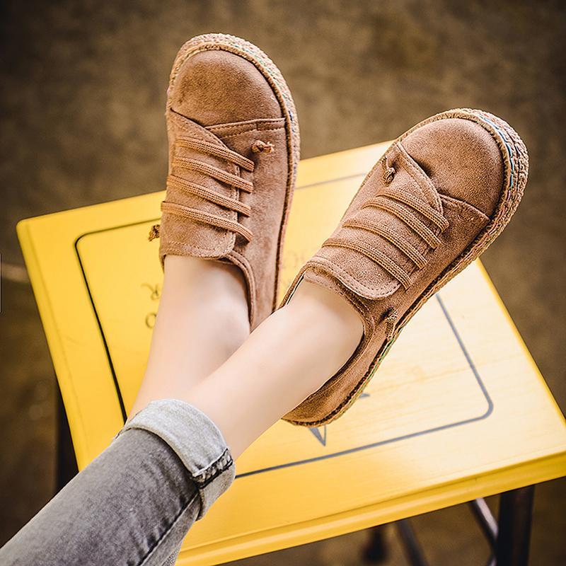 جديد ربيع المرأة الشقق الأحذية المتسكعون جولة تو العريض الضحلة الانزلاق على عارضة سيدة الشقق أحذية أكسفورد أحذية للنساء