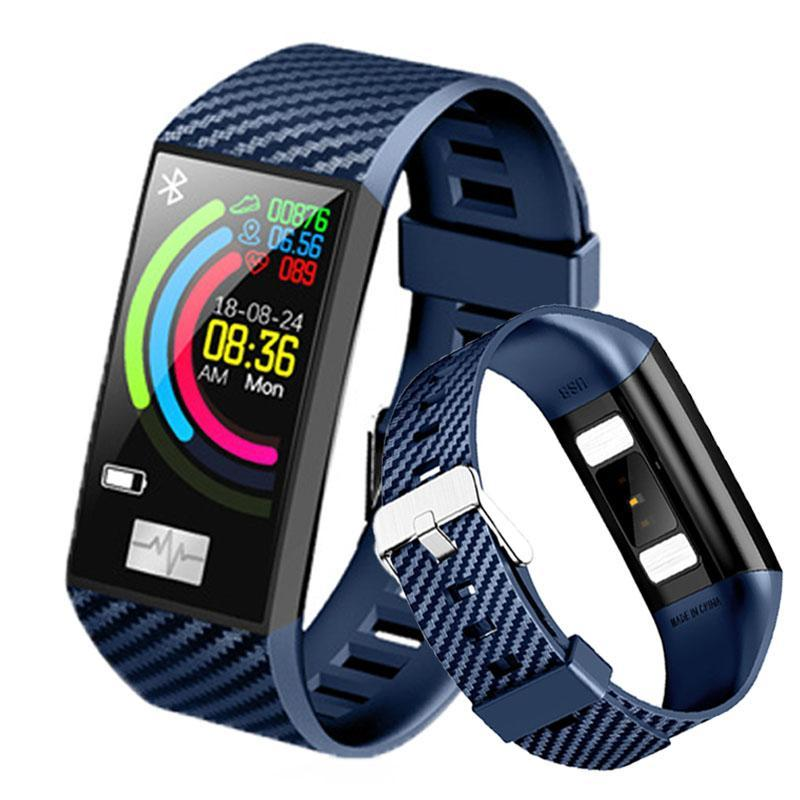 Pulsera inteligente delgada mujer banda de mujeres ritmo cardíaco pantalla de color relojes de pulsera impermeable actividad fitness tracker smartwatch pulseras