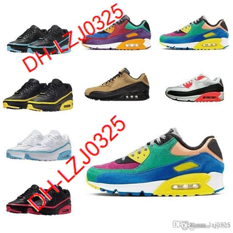 2021 zapatillas de deporte para hombre zapatos clásicos 90s mujeres deporte entrenador Air cojion 90 superficie transpirable zapato deportivo 5.5-11 DH-X45 ABN112