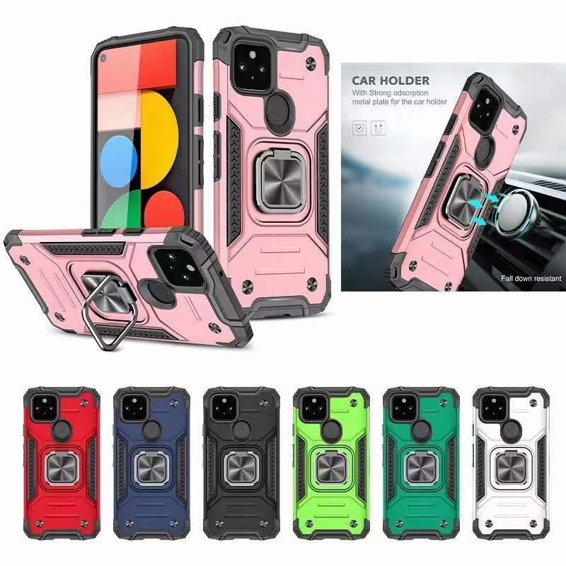 Custodie per telefoni cellulari per iPhone 12 Mini 11 Pro Max SE 2 x XR XS 6 6S 7 8 PLUS Armor antiurto anello anello portata auto supporto per supporto magnetico