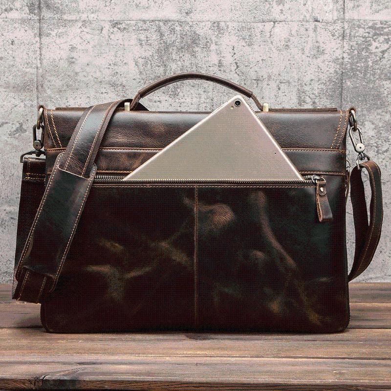 Evraklar Avrupa ve Amerikan Deri erkek iş evrak çantası çanta çok fonksiyonlu dizüstü çantası erkekler omuz / crossbody çantalar1 cwvn