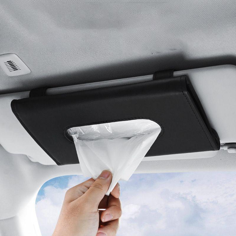 Mode kreative Leder Papier Tuch Kasten Auto Visierstuhl Schiebedach Papiere Autos Aufbewahrungsbox QC536