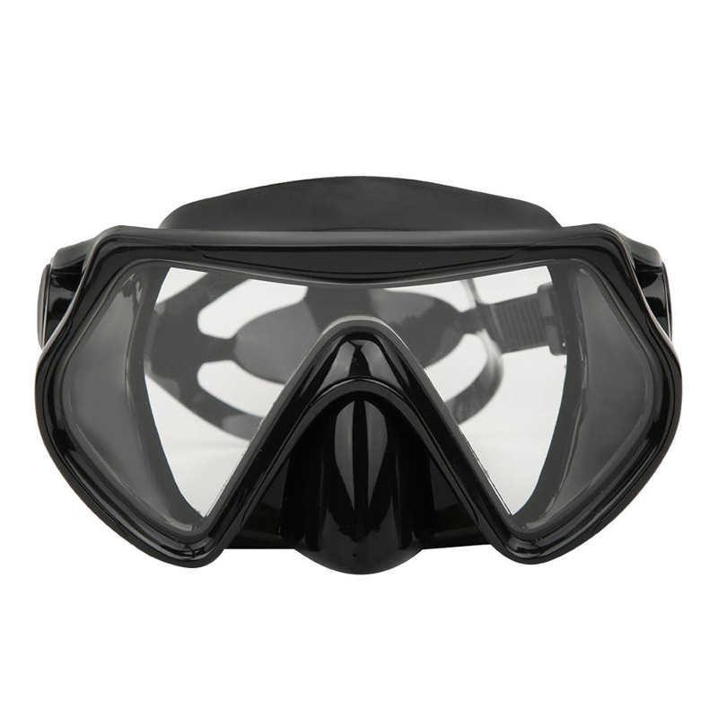 Masque de plongée professionnel sous-marin adulte adulte plongée sous-tuba trempé verres trempé lentille vue de la natation googles masques
