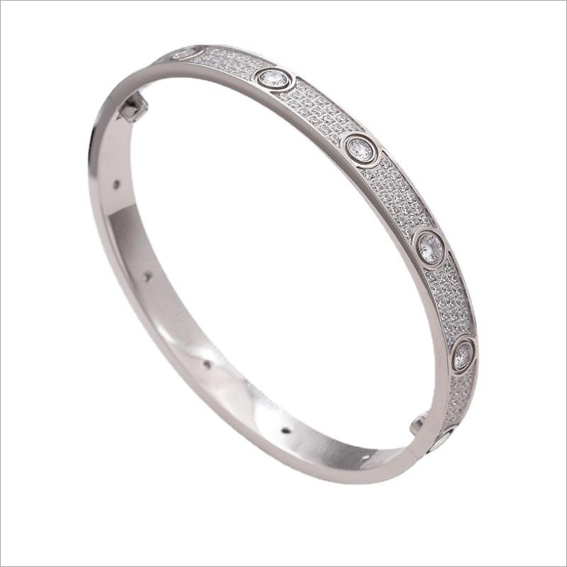 Love Bracelet for womens mens fashion custom cuff bangle silver gold titanium steel luxury designer jewelry screw screwdriver diamond bracelets with dust bag