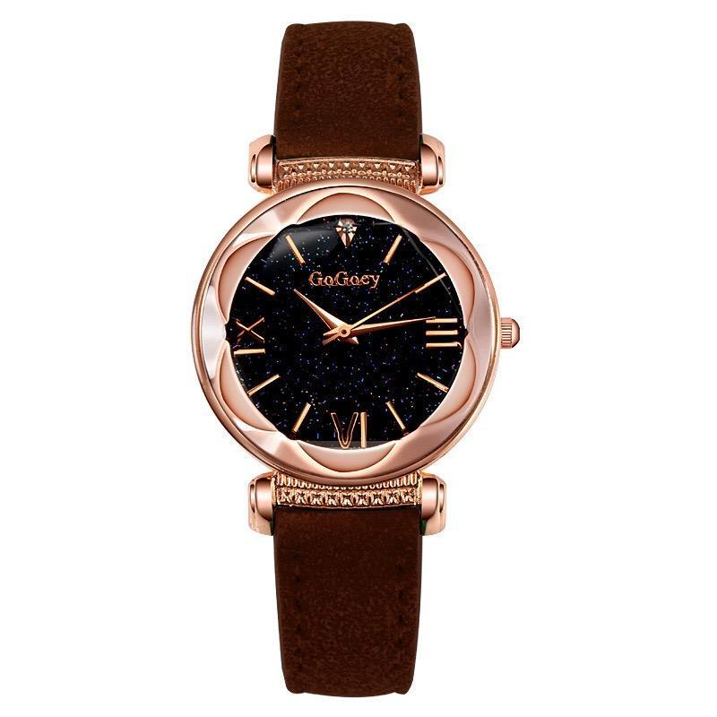 Wristwatches 100pcs/lot Gogoey Brand High Quality Leather Watch Nice Lady Factory Price Wholesale