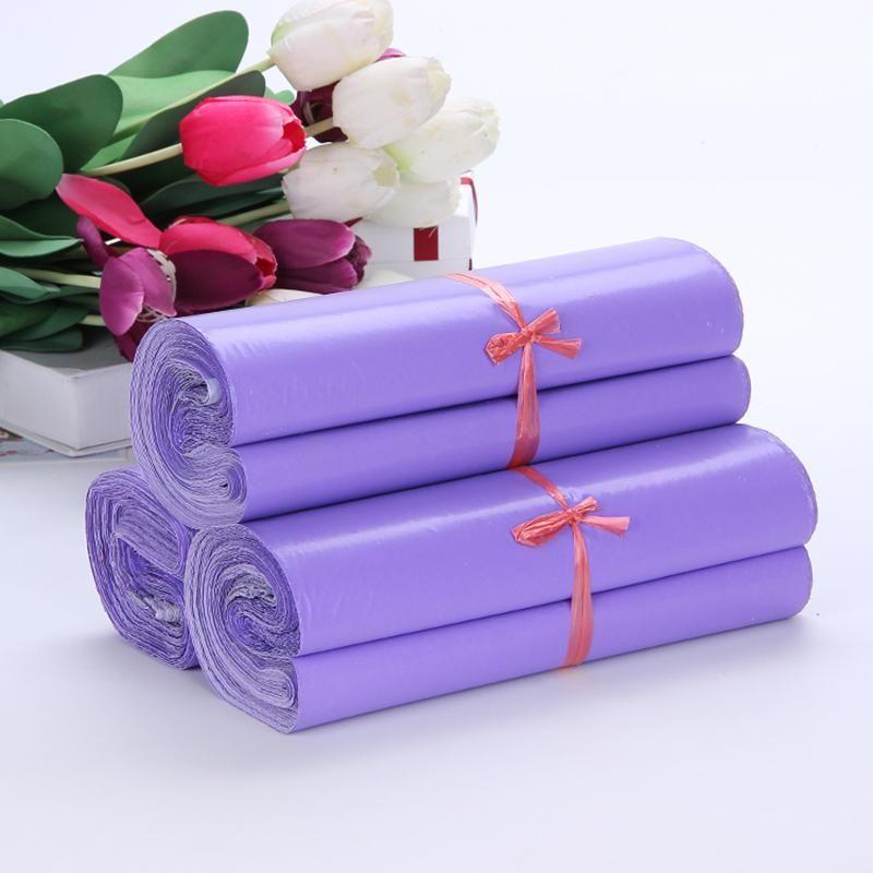 50 шт. Фиолетовый курьерская почта упаковка сумки конверт сыпучие расходные материалы пакет пластиковый самоклеящийся дозирующийся мешок полиэтилеры подарочная упаковка