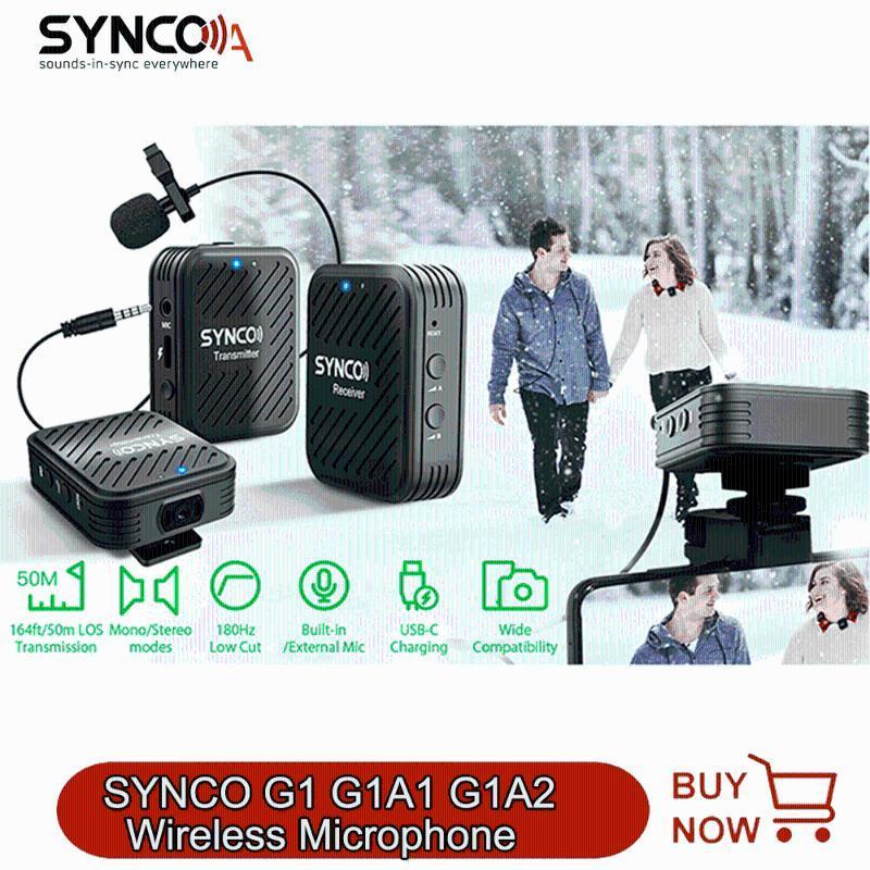 G1A1 G1A2 Akıllı Telefon Dizüstü DSLR Tablet Kamera Kaydedici Mikrofonlar Için G1A1 G1A2 Kablosuz Lavalier Mikrofon Sistemi