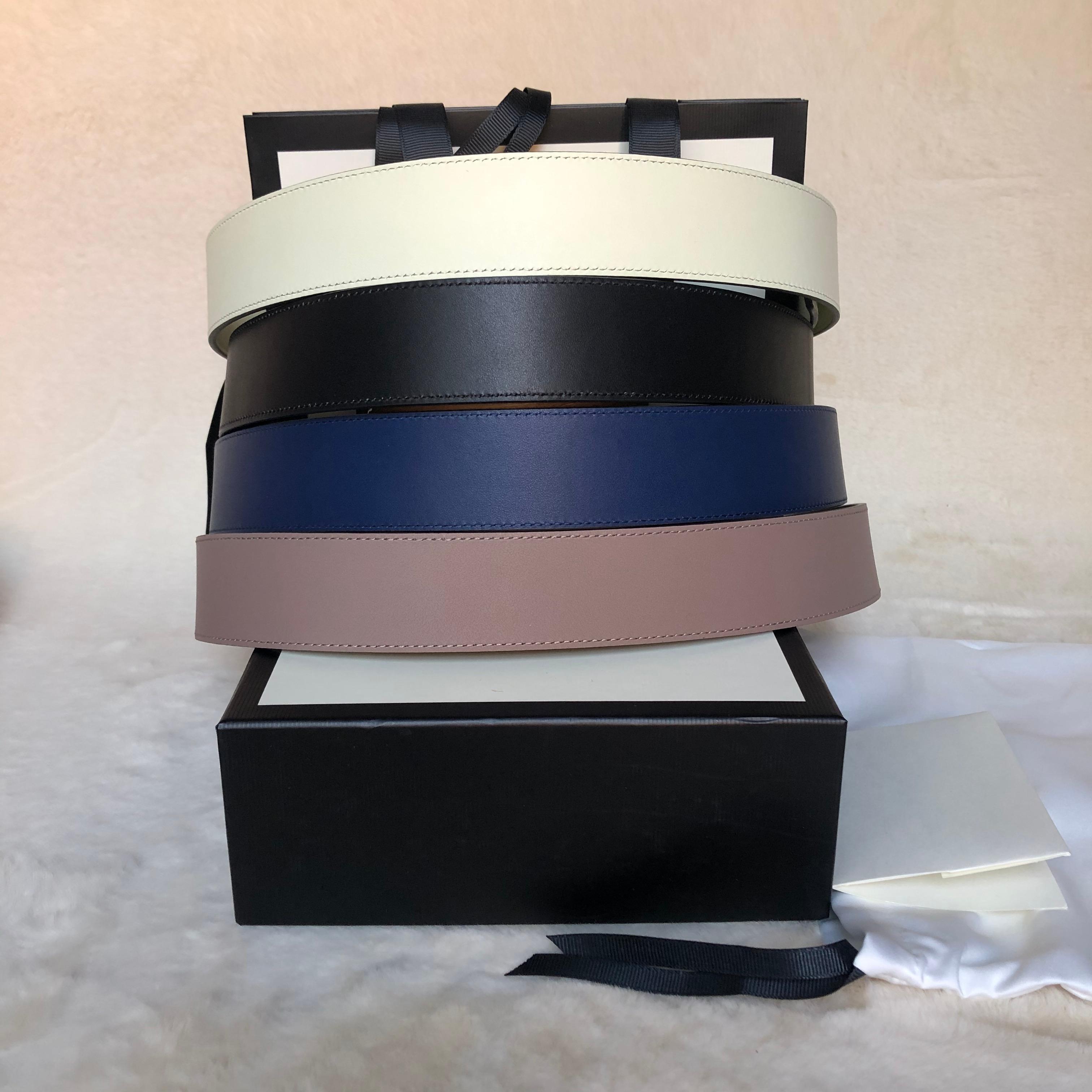 Cantos de diseñadores clásicos de la mejor calidad 2.0 3.0 4,0 cm Anchos de colores Cinturón de mujer de plata de cuero genuino con cinturón de mujer con caja de cintura 66