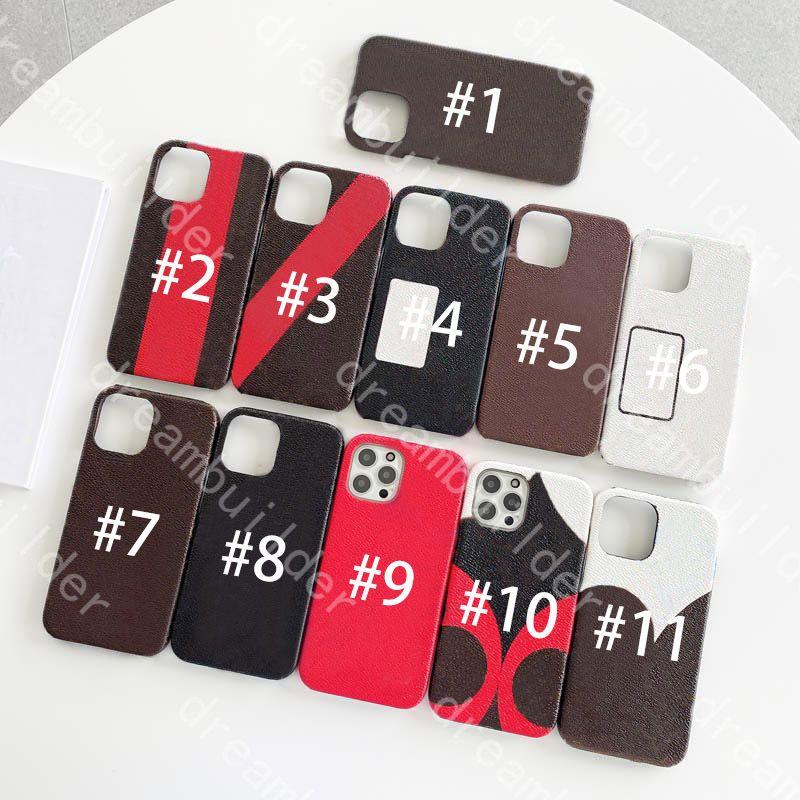 Casi del telefono della moda per iphone 13 12 Pro Max Mini 11 x XR XSMax Cover PU Shell Shell Samsung Galaxy S20 S20P S20plus Nota 10 20 Ultra