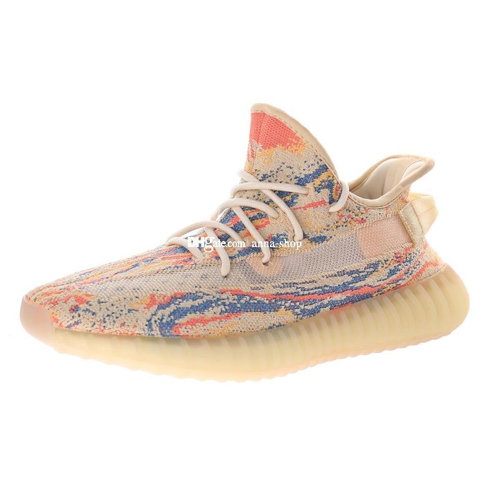 Kanye V2 MX Boosts per gli uomini scarpe da uomo Mens Scarpe sportive ad ovest Scarpe da donna Scarpe da ginnastica Donne formatori Sport Chaussures Athletic GW3773