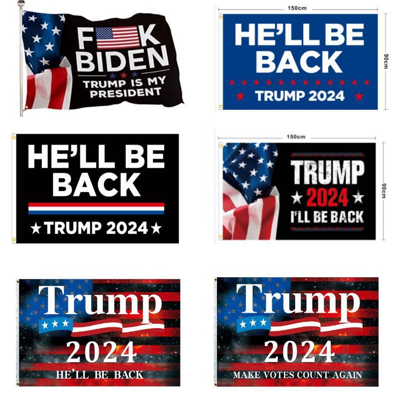 Trump 2024 Geri Döneceğim Bayrak Donald Banner Bayraklar Için ABD Başkanlık Seçimleri Yapmak Amerika Büyük Kapalı Açık 3x5 HH21-378
