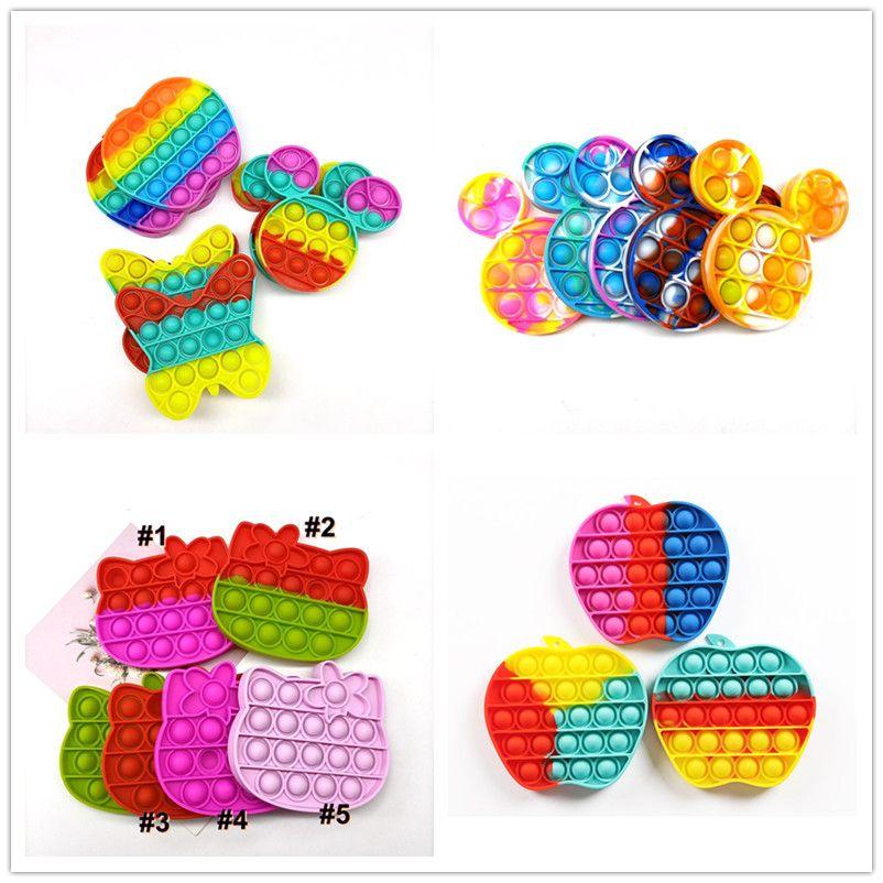 Tik tok brinquedos poo-seus filhos novos empurrar fidget desktop toy bolha poppers sensory brinquedo engraçado encaixes anti-stress squishy stress ball cleiever presentes H12101