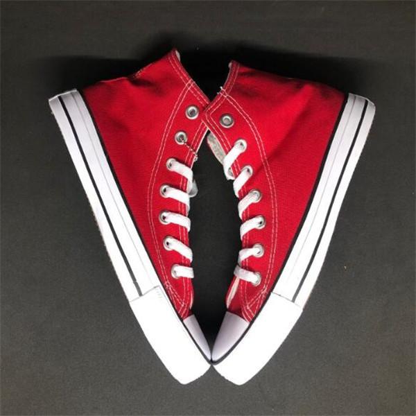 Drop Ship Brand Tutte le dimensioni 35-46 Scarpe alte Low Top Top Classic Canvas Sneakers Scarpa casual da donna