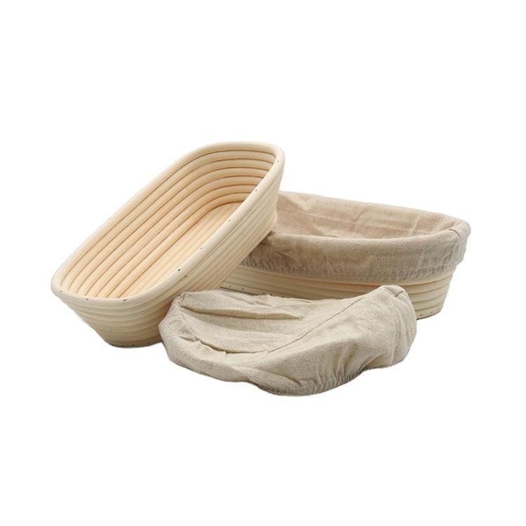 China Cuenco de pan de horneado de la hornada de China Cuencos auténticos de la pasta 9inch Oval Best Banneton Cesta de la prueba