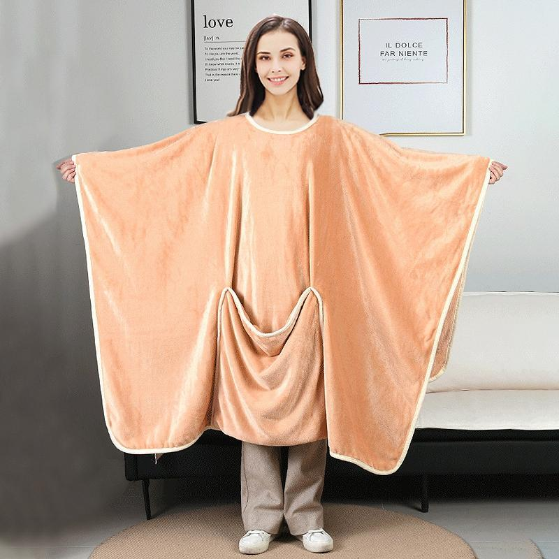 Blankets Wearable Hooded Blanket Winter Warm TV Flannel Weighted For Adults Manta Con Capucha Com Capuz Xmas Gifts