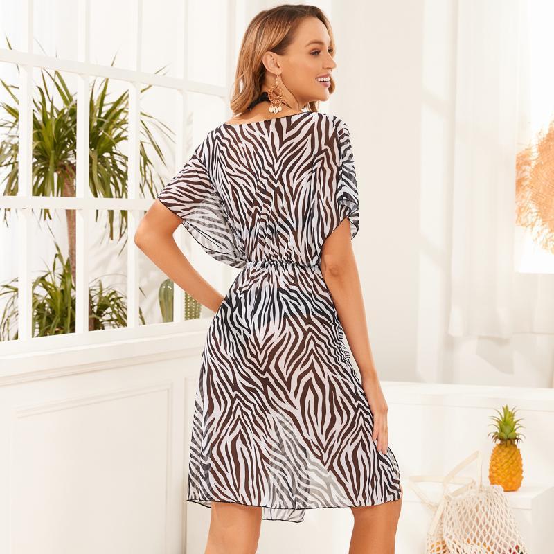 Kadınlar kadın Mayo Up Plaj Kadın Çiçek Mayo Kapak-Ups Mayo Beachwear Güneş Koruma Elbise 2021 UVRCOS Bikini Kapak