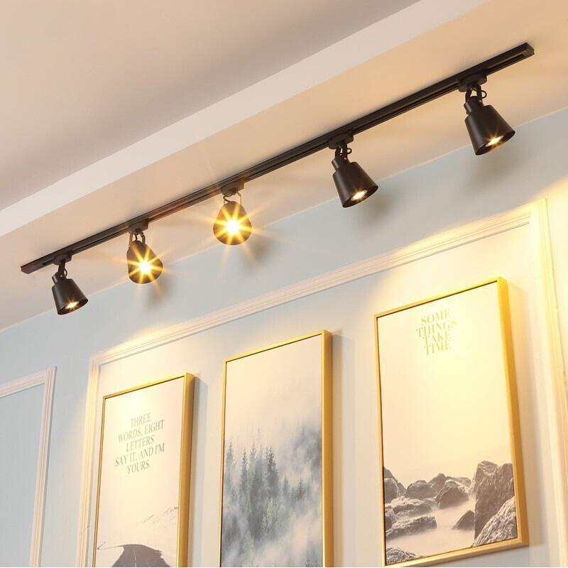 천장 램프 조명 거실 각도 조정 가능한 스포트 라이트 E27 COB 스포트 라이트 전구 가게 숍 쇼룸