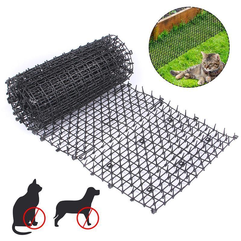 Jardim preto Anti-gato líquido de plástico impede a tapete de espinho de gato Malha de protecção de plantas vegetais multi-função portadores de proteção, casas de caixas