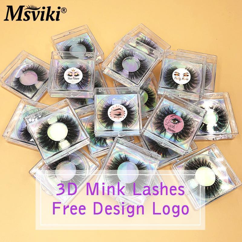 Faux cils Design Gratuit logo Boîte à colis 3D Mink en vrulture de 15mm 20mm 20mm Vendeur de cils naturels fausses cils