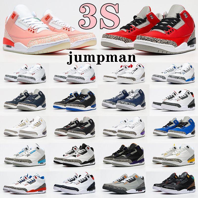 Air Jordan 3 3s Retro shoes Jumpman Georgetown Retro Basketball Shoes Arrival UNC Varsity Roal Men Women Denim Fire Red Fragment Trainers Knicks Rivals Mens Womens Sports Sneakers