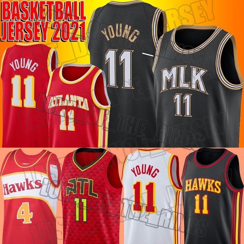 "TRAE 11 Junge Basketball-Jersey MLK-Rückgang Spud 4 Webb Martin Luther King Jr Atlanta ""Hawks"" Stadt ""Edition"" Jersey"