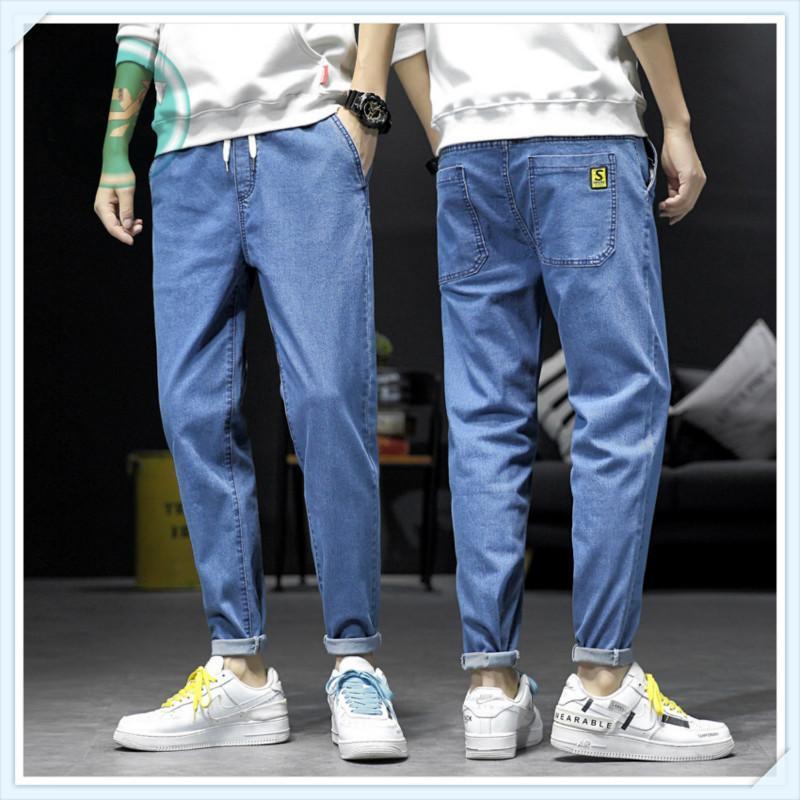 G. Sky Jeans maschili da uomo primavera stile skinny pantaloni elasticità pantaloni a vita elastica tendenza casual