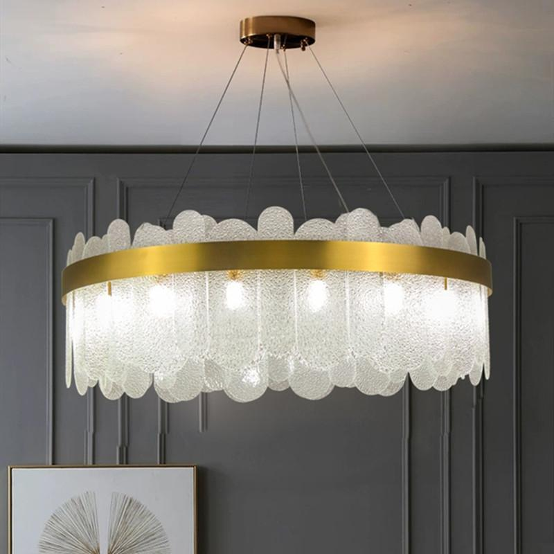 Pendant Lamps Nordic Style Apartment Bedroom Crystal Chandelier Creative Designer Art Gallery Restaurant Bar Light Fixture Luminaire
