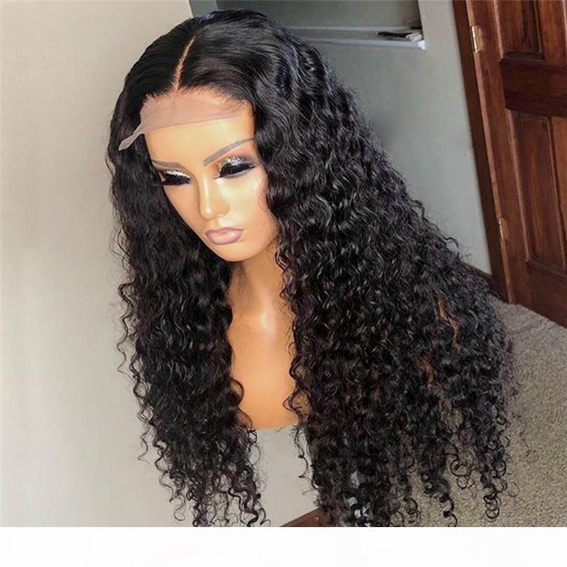 Rury 5x5 '' Silk Top Frontal Frente de encaje Pelucas de cabello humano para mujeres negras Remy Brasileño Malasia Preplucidado Pelo Pelo Blanqueado Nudos Blanqueados